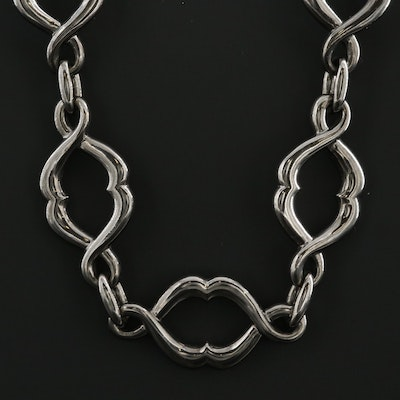 Stephen Webster Sterling Silver Fancy Link Necklace