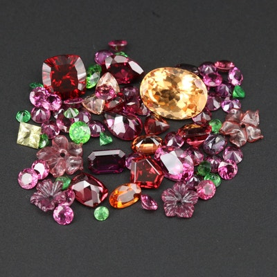 Loose 45.26 CTW Garnet Gemstones