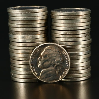 Roll of Forty Uncirculated 1970-D Jefferson Nickels
