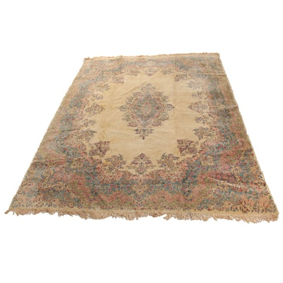 9'7 x 13'5 Hand-Knotted Persian Kashan Rug
