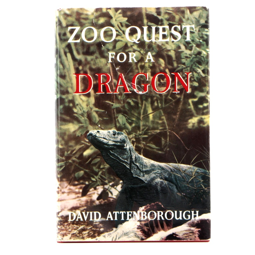 "Signed First Edition ""Zoo Quest for a Dragon"" by David Attenborough, 1957"