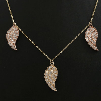 14K Yellow and Rose Gold 2.00 CTW Diamond Pendant Necklace