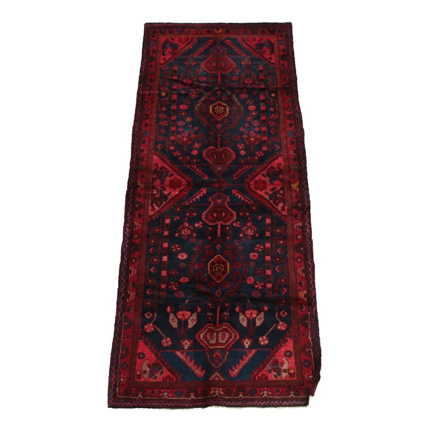3'11 x 10'3 Hand-Knotted Persian Josheghan Wool Long Rug