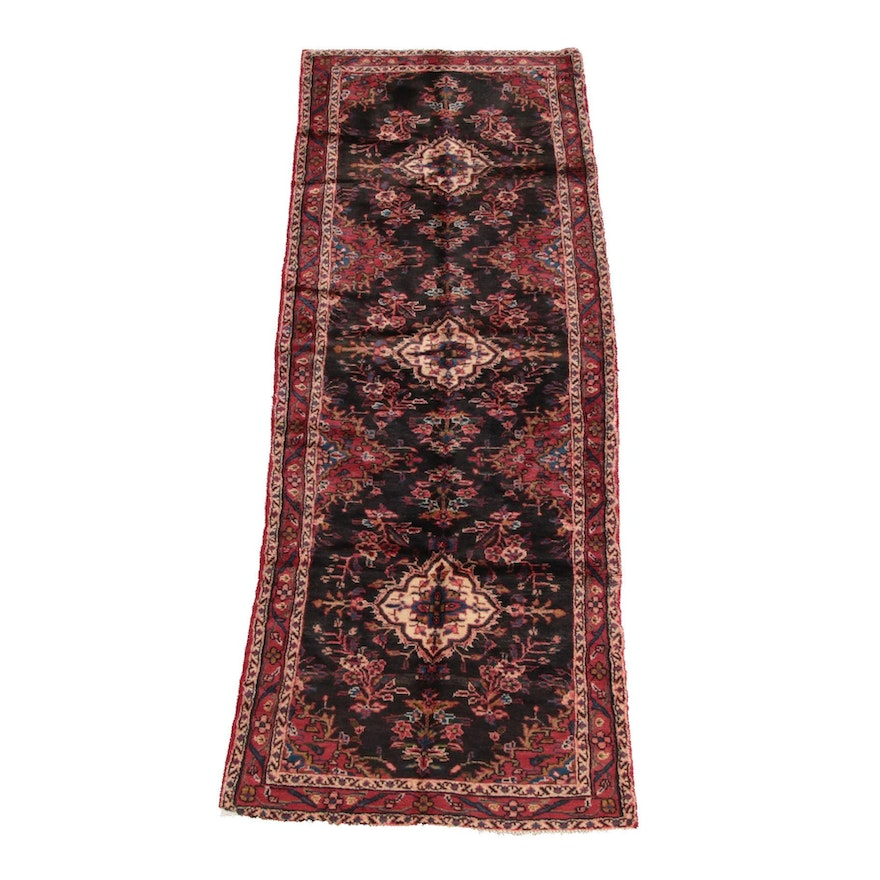 3'6 x 10'0 Hand-Knotted Persian Ahar Wool Long Rug