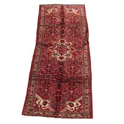 3'11 x 10'4 Hand-Knotted Persian Ahar Wool Long Rug