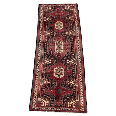 3'5 x 9'11 Hand-Knotted Persian Karaja Wool Long Rug