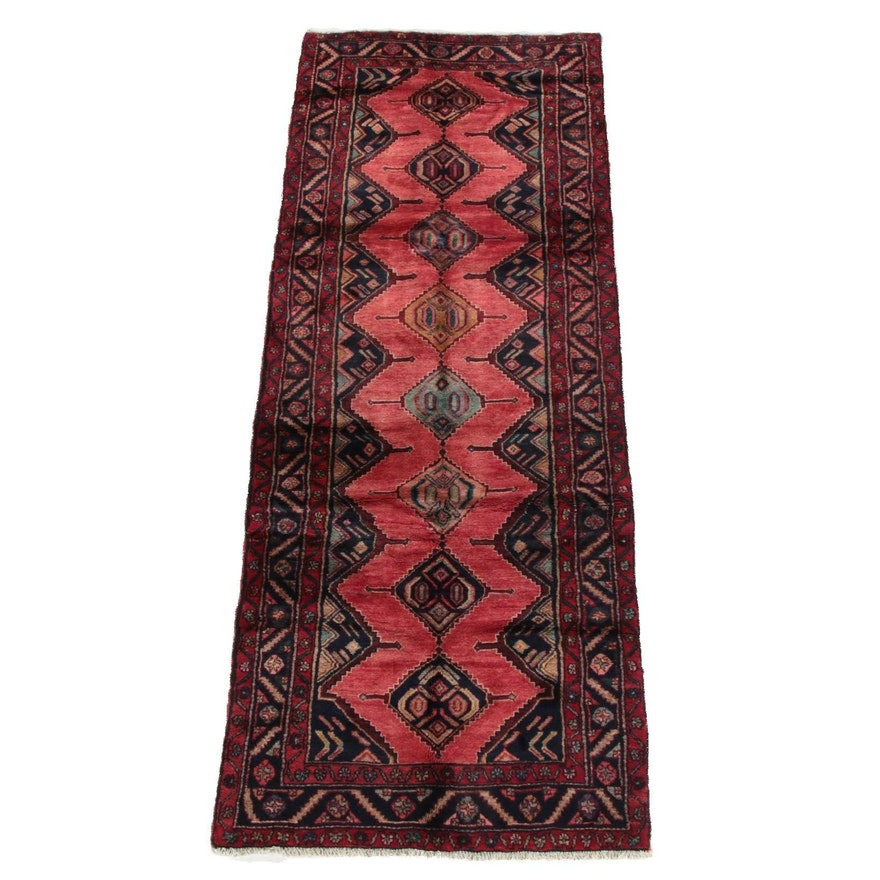 3'8 x 10'1 Hand-Knotted Persian Yalameh Wool Long Rug