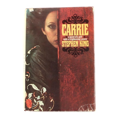 "First Edition, First Printing ""Carrie"" by Stephen King with Dust Jacket, 1974"