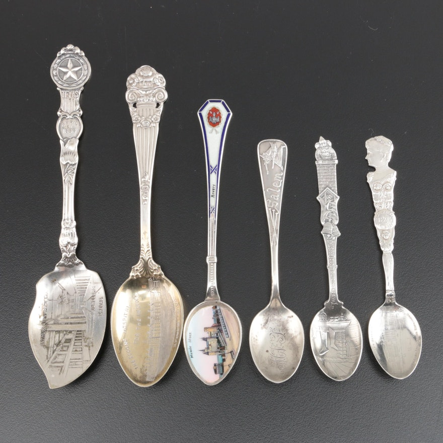 """Gorham """"Twas the Night Before Christmas"""" Sterling Souvenir Spoon and Others"""