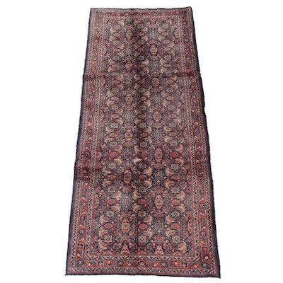 3'8 x 9'8 Hand-Knotted Persian Hamadan Wool Long Rug