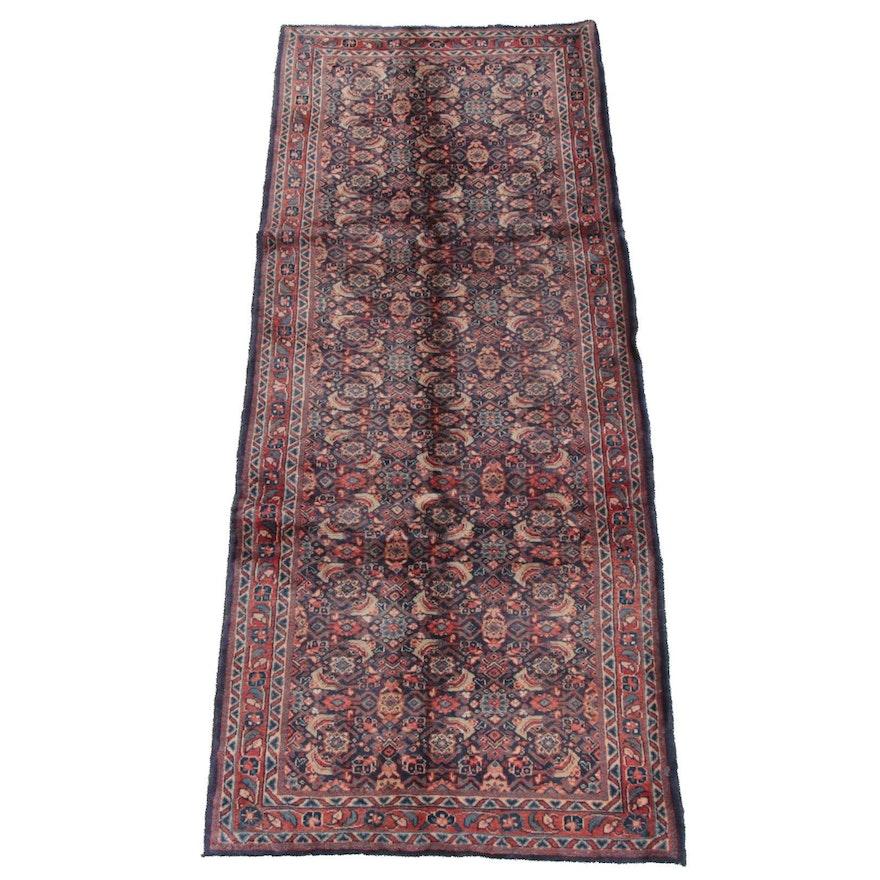 3'8 x 9'8 Hand-Knotted Persian Hamadan Wool Long Rug