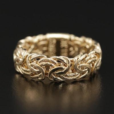 18K Yellow Gold Byzantine Ring