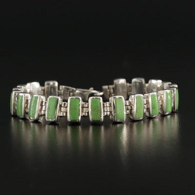 Sterling Silver Gaspeite Bracelet