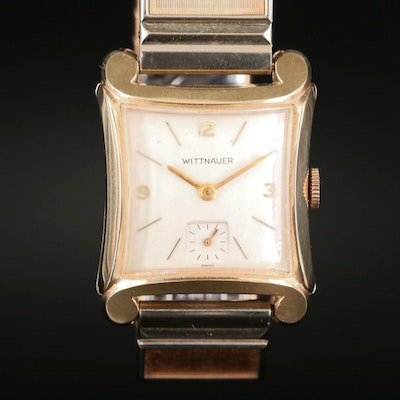 Vintage Wittnauer Fancy Lugs Gold Filled and Stainless Steel Wristwatch