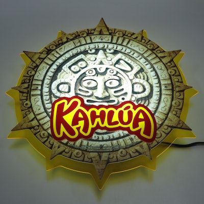 Kahlua Backlit Mayan Calendar Advertising Sign