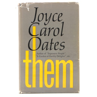 "Signed First Edition ""them"" by Joyce Carol Oates, 1969"
