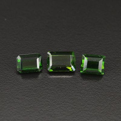 Loose 6.36 CTW Diopside Gemstones