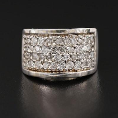 14K 1.90 CTW Pavé Diamond Ring