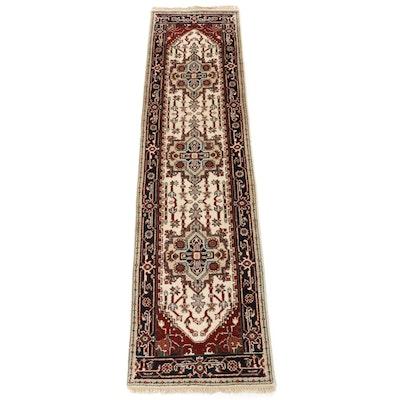 2'6 x 9'10 Hand-Knotted Indo-Persian Heriz Serapi Runner