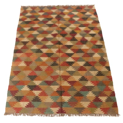6'1 x 9'1 Handwoven Turkish Kilim Wool Rug