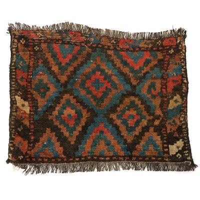 1'8 x 2'0 Hand-Knotted Persian Kurdish Rug, circa 1900