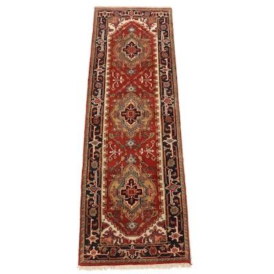 2'6 x 7'11 Hand-Knotted Indo-Persian Heriz Serapi Runner