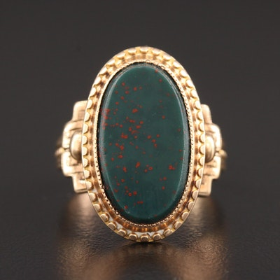 Victorian 14K Yellow Gold Bloodstone Ring