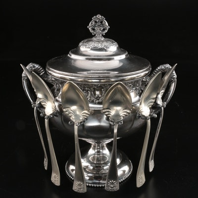 Homan Manufacturing Co. Silver Plate Spooner, Late 19th/Early 20th C.