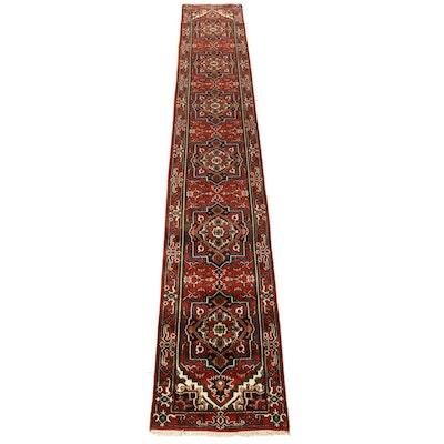 2'7 x 15'11 Hand-Knotted Indo-Persian Heriz Serapi Runner