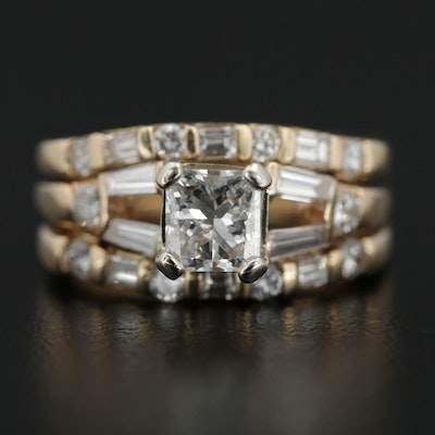 14K Yellow Gold 1.53 CTW Diamond Ring