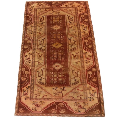 4'6 x 7'11 Hand-Knotted Turkish Village Rug, 1970s