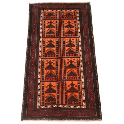 3'4 x 5'10 Hand-Knotted Persian Baluch Rug, 1990s