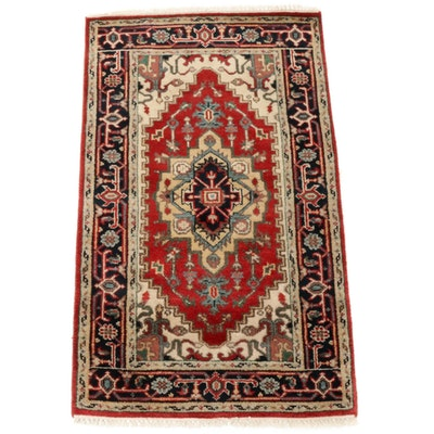 3'0 x 5'3 Hand-Knotted Indo-Persian Heriz Serapi Rug, 2010s