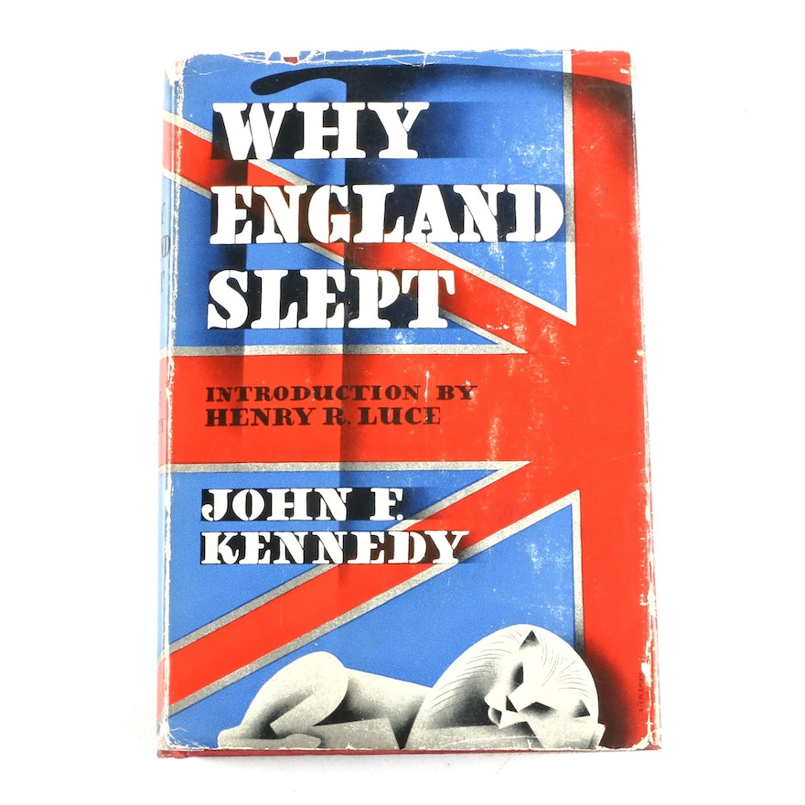 """First Edition """"Why England Slept"""" by John F. Kennedy, 1940"""