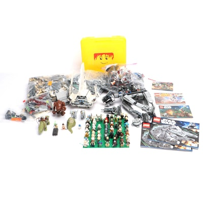 "LEGO ""Star Wars"" Blocks, Figures, Vehicles, with Cases and Booklets, 2010s"