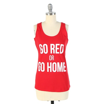 """American Heart Association """"Go Red or Go Home"""" Tank Top Signed by Susan Lucci"""