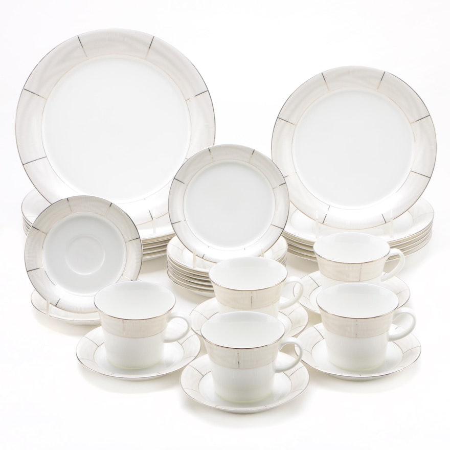 """Lauren Ralph Lauren """"Silk Moire"""" Porcelain Dinnerware, 2007"""