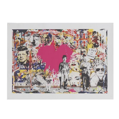 """Giclée Print after Mr. Brainwash """"Love Is the Answer"""""""