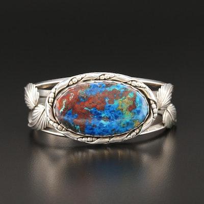 Southwestern Sterling Silver Japer Cuff Bracelet