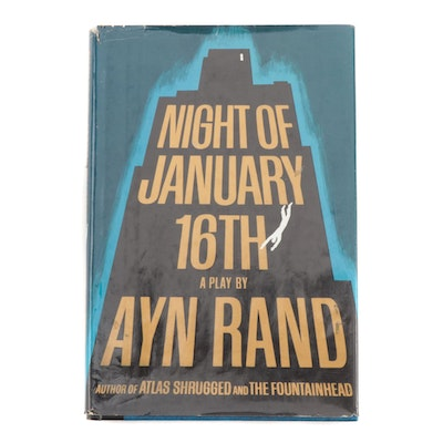 "First Edition, First Printing ""Night of January 16th: A Play"" by Ayn Rand, 1968"