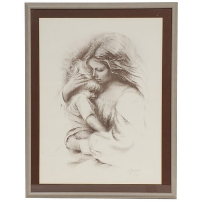 "Marilyn Zapp Halftone Print ""Mother's Love"", Late 20th Century"