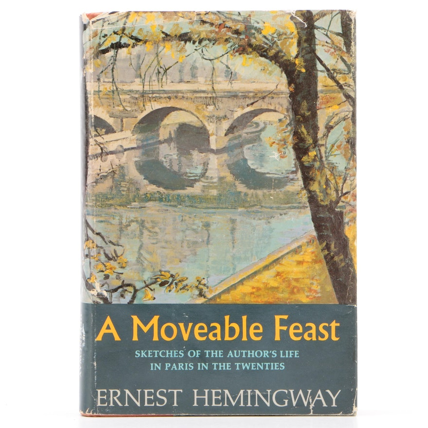 """First Edition, First Printing """"A Moveable Feast"""" by Ernest Hemingway, 1964"""