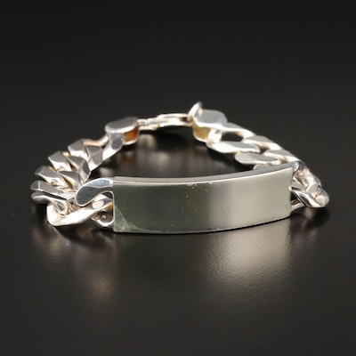 Sterling Silver Identification Bracelet