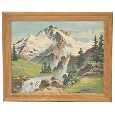 Acrylic Landscape Painting, Late 20th Century