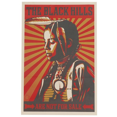 """Offset Print after Shepard Fairey """"The Black Hills Are Not For Sale"""""""
