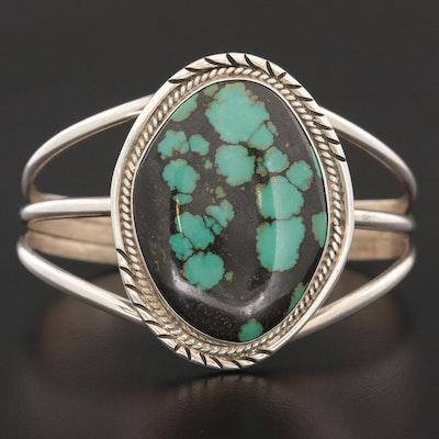 Josephine Benally Navajo Diné Sterling Silver Turquoise Cuff Bracelet