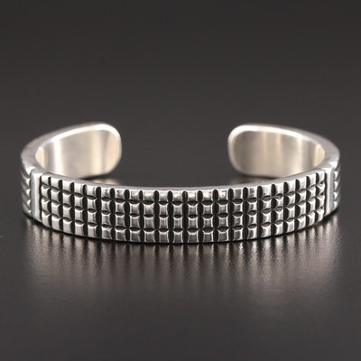 Johnathan Naz Navajo Sterling Silver Cuff Bracelet