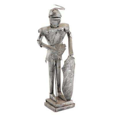 Medieval Style Metal Knight Figurine