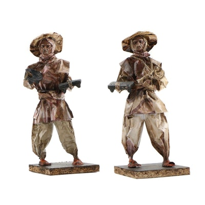 Mexican Folk Art Papier-Mâché Figurines