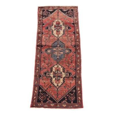 3'9 x 9'7 Hand-Knotted Persian Yalameh Wool Long Rug
